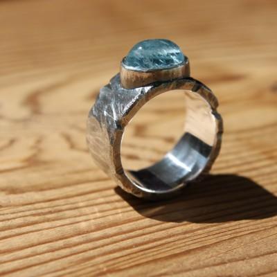 Ring met Aquamarijn