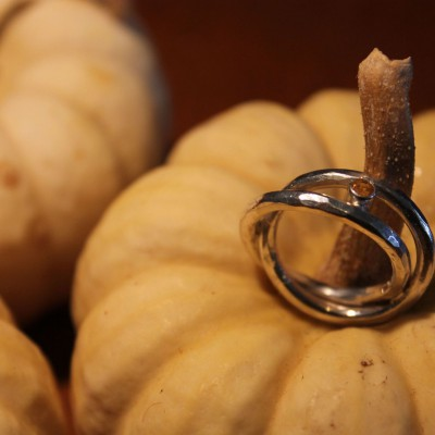 dubbele ring met citrien